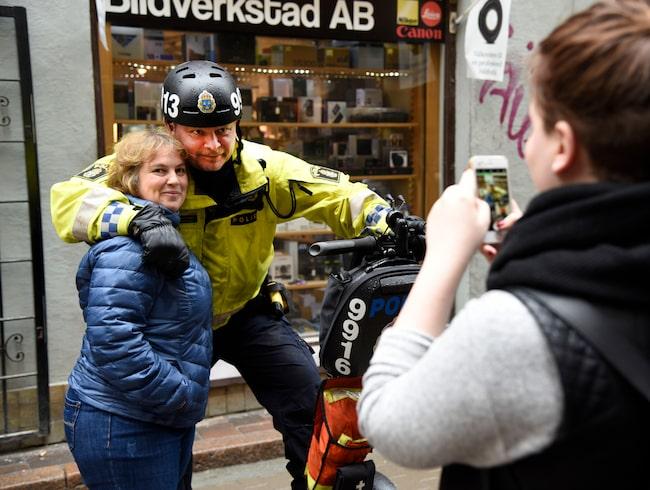 Mikael Ericson är polis på Södermalm i Stockholm.