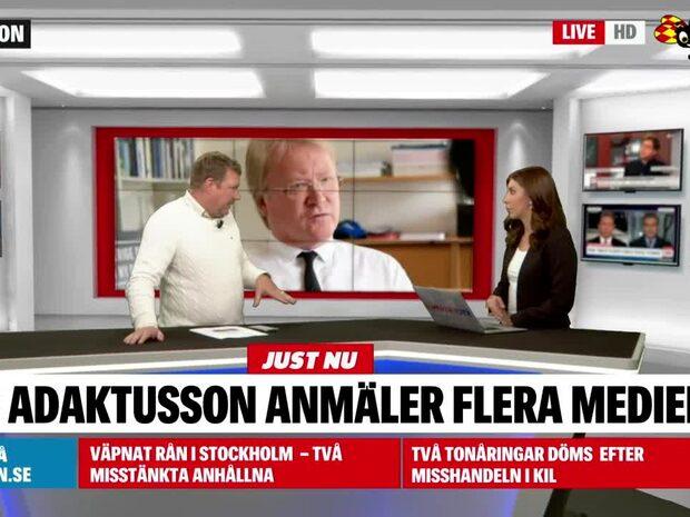 Lars Adaktusson anmäler flera medier