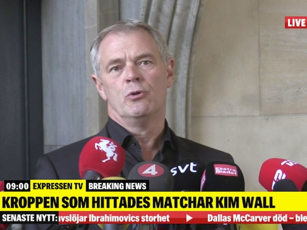 Se hela polisens presskonferens om nya uppgifterna kring Kim Wall
