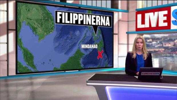 Stor jordbävning i Filippinerna – varnar för farliga vågor