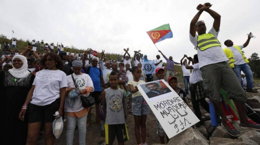 Våldsamt vid protest mot eritreansk festival | Nyheter | Expressen