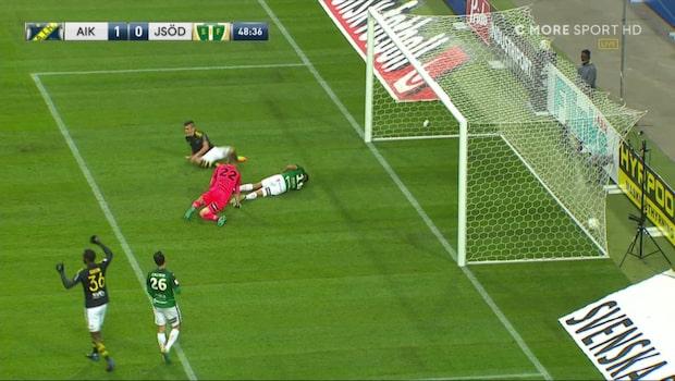 TV: Snöpliga målet ger AIK ledningen