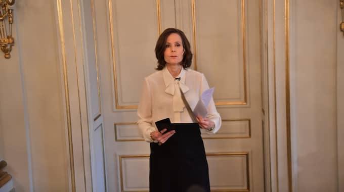 Svenska Akademiens ständiga sekreterare Sara Danius. Foto: Pelle T Nilsson / STELLA PICTURES PELLE T NILSSON