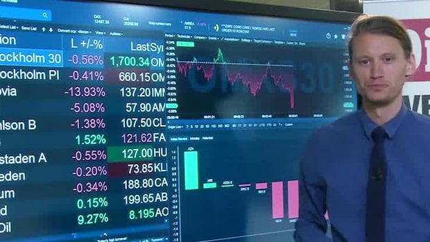 Börsöppning: Börsen på minus - Autoliv i botten