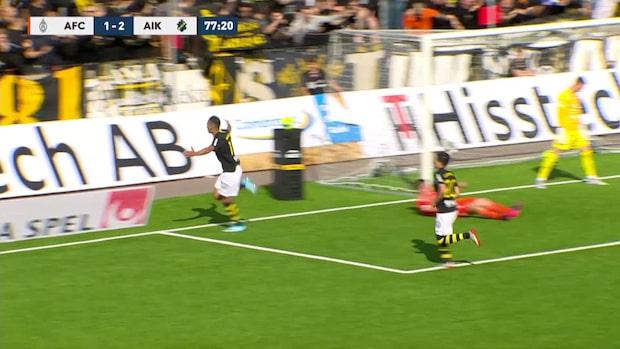 Bahoui gör sitt första mål för AIK sedan återkomsten