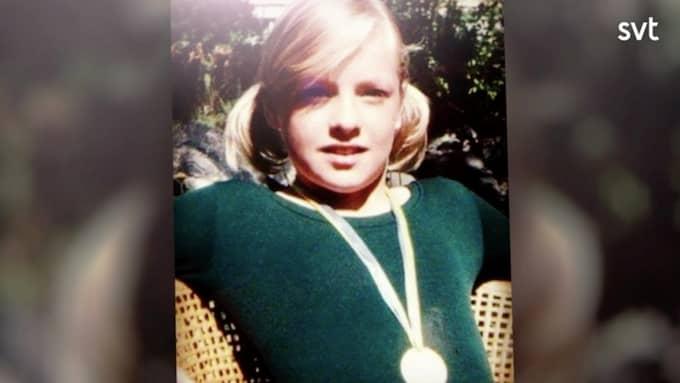 Regina Lund som tioåring. Foto: SVT