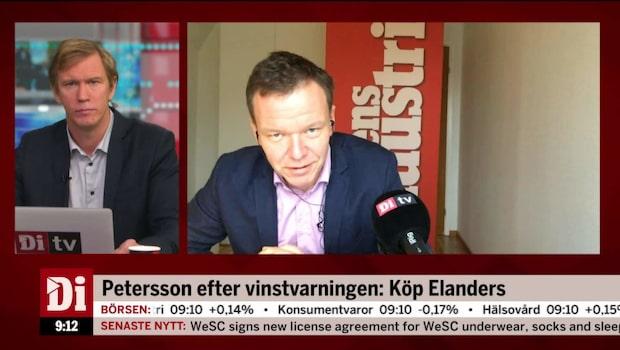 """Petersson: """"Köpt Elanders - låg värdering"""""""