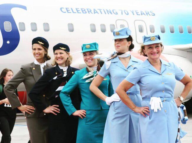 Sas s firar de 70 rsjubileet allt om resor for Spa uniform norge