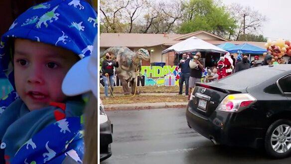 Pojkens föräldrar dog i covid-19 –här får han fira sin födelsedag
