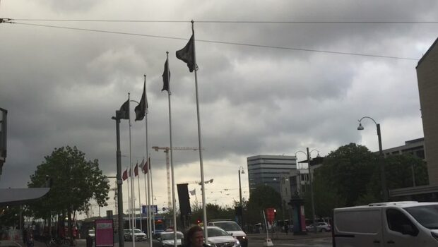 Stormen Johanne drar in över Sverige