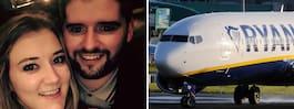 Parets semester blev 25 minuter lång efter ändringen av Ryanair