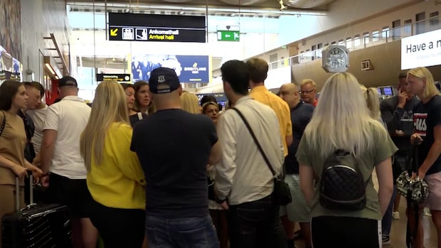 Hundratals personer blev strandsatta på Arlanda