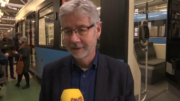 Kika in i Göteborgs nya spårvagn