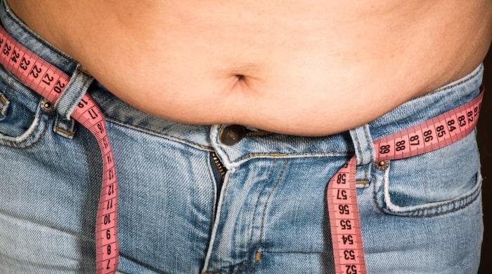 tjock mage smal i övrigt