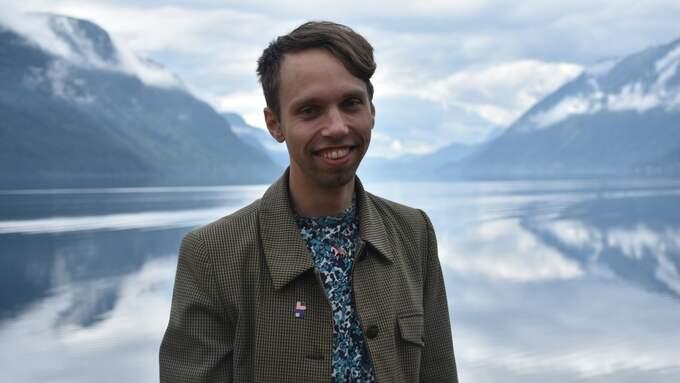 Axel Lilja, föreläser om hur det är att vara ung och leva med hiv. Foto: Privat