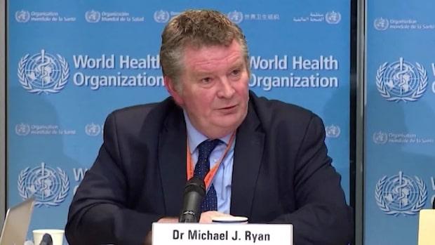 WHO håller en presskonferens med anledning av vaccin för coronavirus