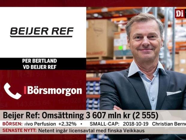 Beijer Ref:s vd: Starkaste tredje kvartalet vi haft