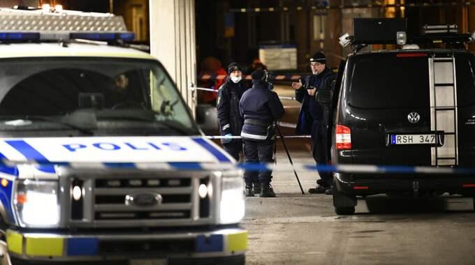 Tre män i 20-årsåldern har häktats misstänkta för medhjälp till mord på den man i 25-årsåldern som sköts ihjäl 22 januari. Foto: Alex Ljungdahl