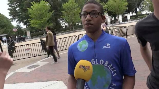 """Klimataktivisten tågade med Greta: """"Hon ger oss hopp"""""""