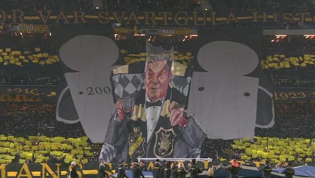 Se AIK:s mäktiga tifo inför guldmatchen