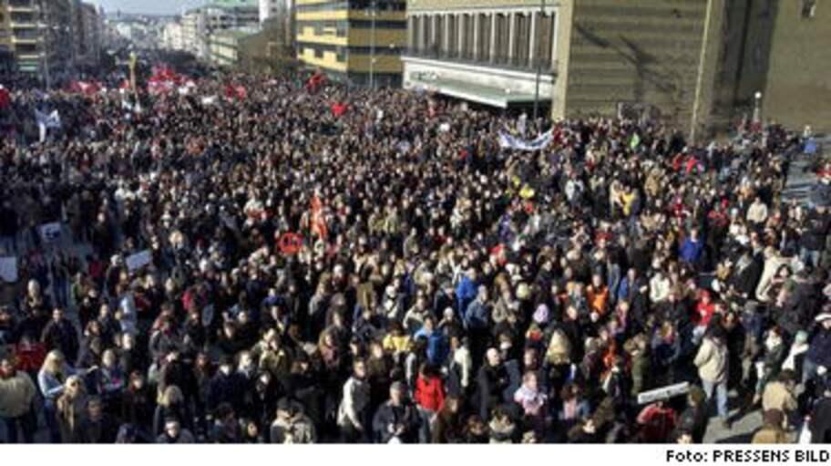 Lugn manifestation mot irakkriget