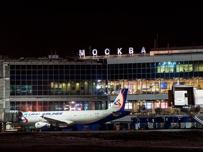 Mannen ville ombord på ett flyg med Ural på Moskvas flygplats.