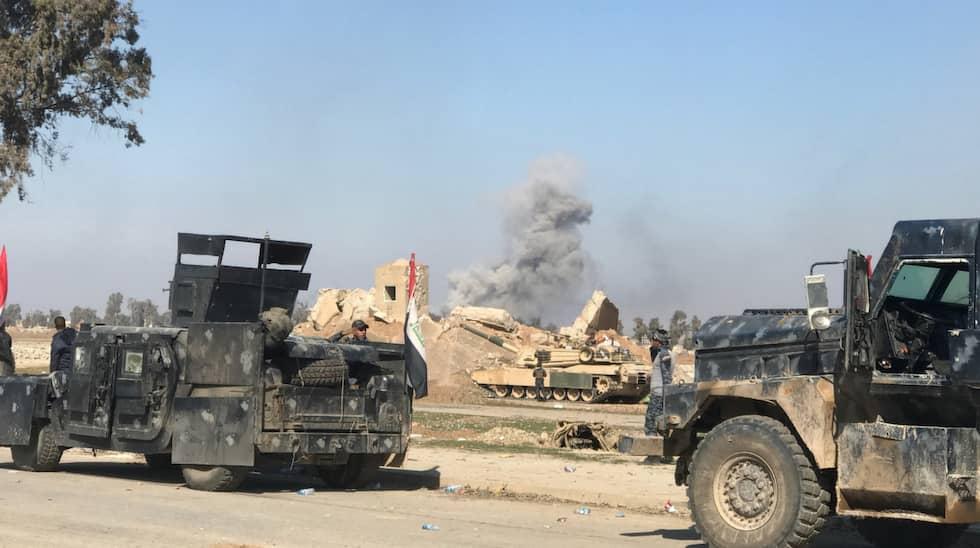 Irakiska armen är positiva och säger att IS kommer att vara besegrat innan maj övergår till juni. Foto: Magda Gad