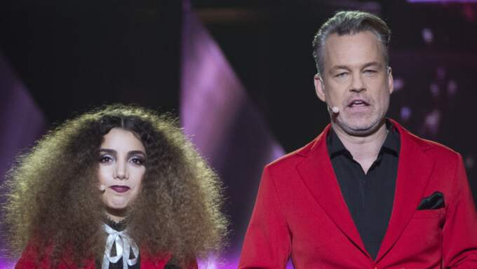 SVT stoppade Gina Dirawi och Henrik Schyfferts snuskskämt. Foto: Sven Lindwall