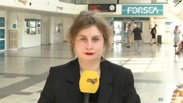 Vår reporter befann sig i Danmark när beskedet kom