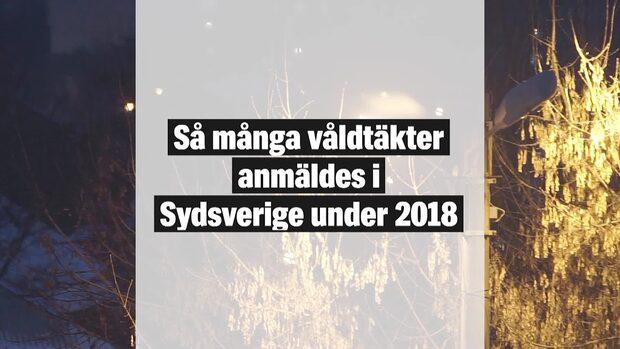 Så många våldtäkter anmäldes i Sydsverige under 2018