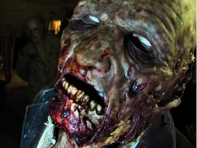 <span>Attackerande zombier springer fram från gömställen bakom stängda dörrar, fördragna draperier, genom rökfyllda korridorer och i fuktiga källare.</span>