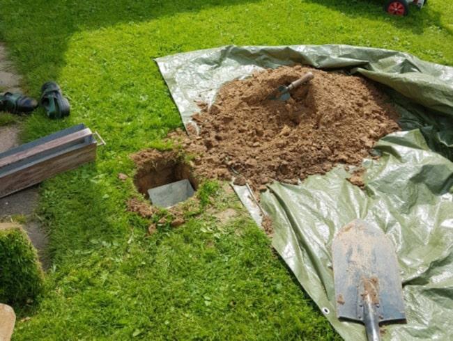 Gräv ett hål i gräsmattan för att göra plats för ölkylaren!