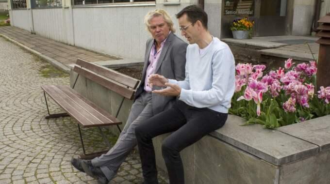"""Pontus Berger och patrik Andersson träffades när filmen """"Trevligt folk"""" visades i Möndal. Foto: Henrik Jansson"""