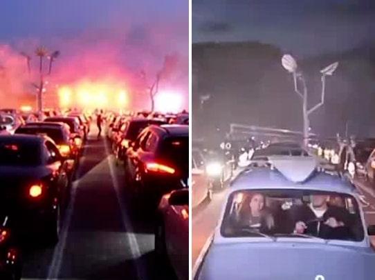 De arrangerar coronafester på drive-in-discon