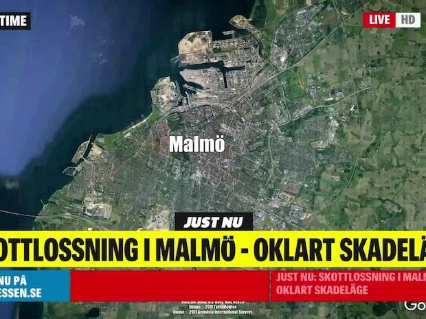 Skottlossning i Malmö – polisen hittade hylsor