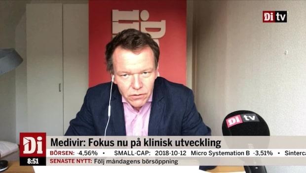"""Petersson om Medivir: """"Aldrig bra att vd:n går på dagen"""""""