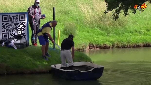 Svenska golfstjärnan tvingas ta en båttur –för att genomföra slaget