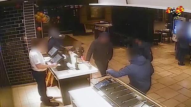 Videon visar: Här går Wilmas pojkvän på McDonalds efter mordet