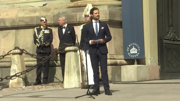 Prins Carl Philips ord om terrordådet i Stockholm