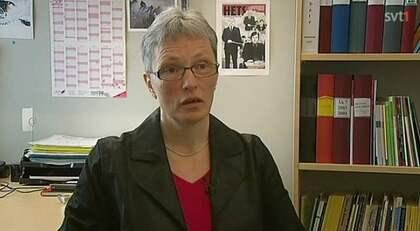 Rektorn på skolan, Inger Karlsson, anmäls efter Uppdrag Gransknings reportage om våldtäkten på 14-åriga Linnea. Foto: Uppdrag Granskning/Svt