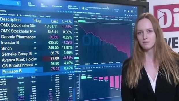 Börsöppning: OMXS30 inleder nedåt - Sinch rusar