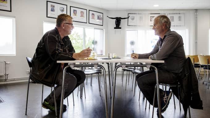 Anders Broström träffar GT:s Stefan Nilsson. Foto: HENRIK JANSSON