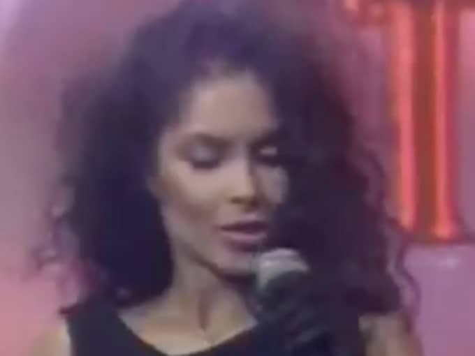 """Hon sjöng i bandet """"Vanity 6""""."""