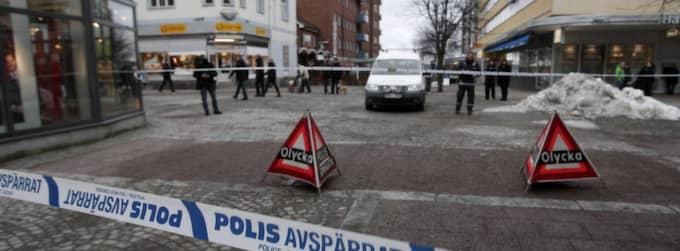 En 44-årig man dog efter att ha blivit påhoppad på öppen gata i Ludvika av flera andra män. Foto: Henrik Hansson