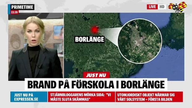 Brand på förskola i Borlänge