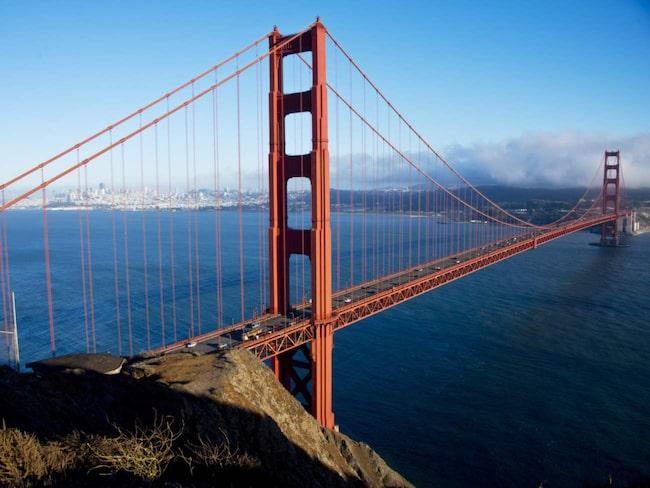 Från det gamla fortet Battery Spencer har man fantastisk utsikt över Golden Gate Bridge i San Francisco.