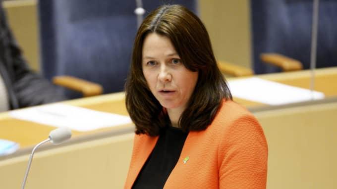 """På tisdagen kommenterade Åsa Romson (MP) för första gången Margot Wallströms lägenhet. """"Jag tycker att det är bra när myndigheterna gör sitt jobb"""", säger Romson. Foto: Jessica Gow/TT"""