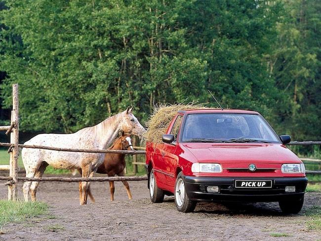 Skoda Felicia pickup, inte bara populär bland hästägare.