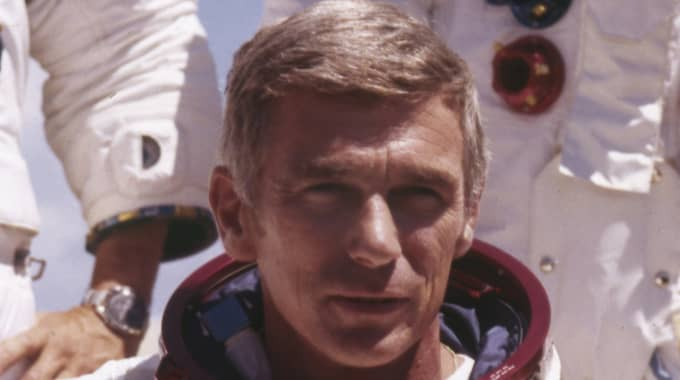Eugene Cernan var kapten ombord på Apollo 17 som lyfte mot månen i december 1972. Foto: Ap / AP TT NYHETSBYRÅN