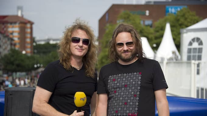 Megadeths basist David Ellefson intervjuades i Kvällsposten/Expressen inför Ullevispelningen 2011. Foto: STEFAN SÖDERSTRÖM